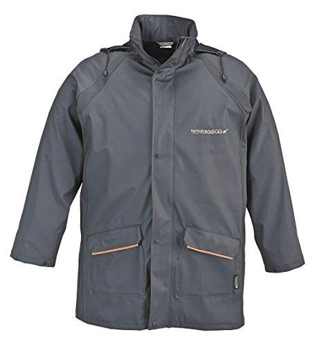 Unbekannt Hochwertige PU Regenjacke - Poly 933 grau - sehr strapazierfähig, passend zur Regenhose Poly 933, 4XL