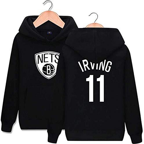 Sudadera con capucha NBA Sudadera con capucha de baloncesto, 11 # Sweater de deportes Brooklyn Nets de manga larga Sudadera Mejor regalo de cumpleaños S-3XL - unisex ( Color : A , Size : XX-Large )