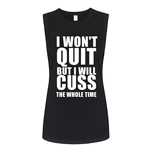 FANNOO Muscle Tank Tops for Women-Womens Funny Saying Fitness Workout Tank Tops Sleeveless Shirts