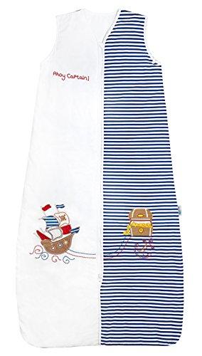 Schlummersack PREMIUM Ganzjahres Babyschlafsack für Jungs in 2.5 Tog - Pirat - 12-36 Monate/110 cm mitwachsend