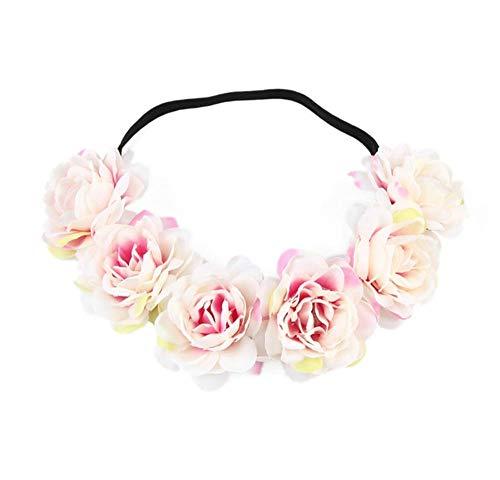 TIANYIHUI haarband bruiloft bloem haarslinger, kroon hoofdband bloemenkrans, haaraccessoires kinderen meisjes vrouwen C