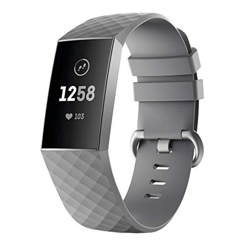 RALC Fabelhaftes Ersatzband für Fitbit Charge 3 Silikonband Diamant-Armband H5