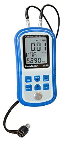 PeakTech Ultraschall- Materialstärkenmessgerät für genaue bestimmung der Dicke, gold / silber, 1 Stück, P 5225