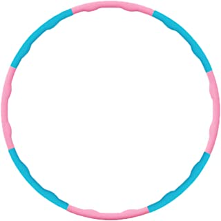 25 Hours Fitness Hula Hoop for Adults and Children, Detachable and Collapsible, Lose Weight and Belly Fat, Home Exercise Cardio Workout