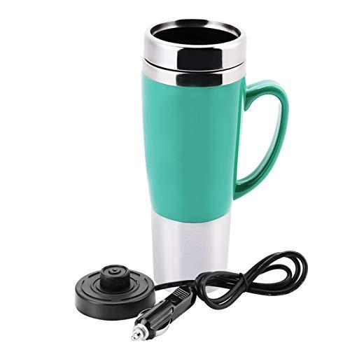 XQAQX Taza para Coche eléctrico, Taza de Agua para Coche eléctrico, Taza calefactora para Coche de 12 V(Verde)