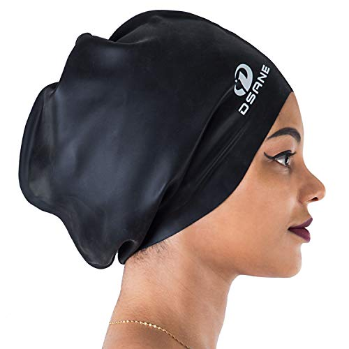 Dsane Extra Large Swimming Cap For Women And Men,Special Design Swim Cap For Very Long Thick Curly...