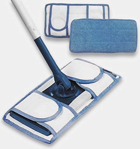 2-Pack of Reusable Microfiber Mop Pads Wet Jet Refills Washable Reusable Floor Cleaning Pads Machine Washable Refill Pads Durable Microfiber Pad for Hardwood Floor