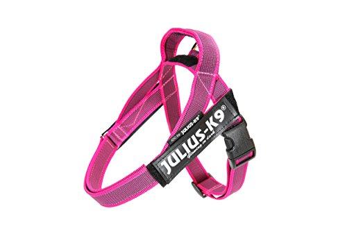 """Julius-K9 16IDC-MM-PN-15 IDC-Belt Harness,Color & Gray Series Size: Mini - Mini, Breast Measurement: 15,5-21""""/40-53, Pink 2015 Model, XS, Rosa"""