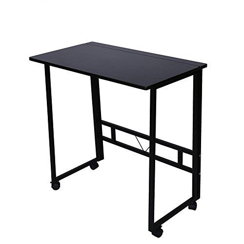Poarmeey - Carro transportable para ordenador portátil con altura ajustable y escritorio / soporte para ordenador portátil.