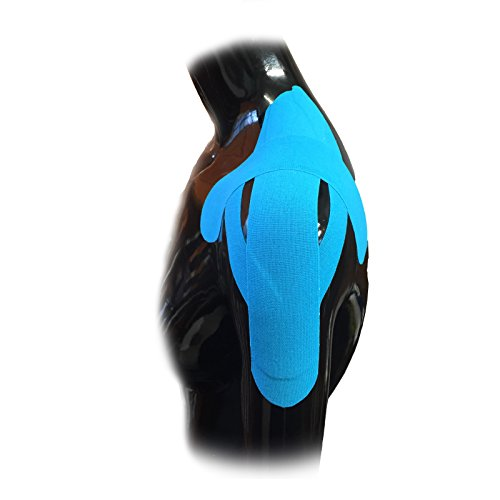 iSport vorgeschnittenen Kinesiologie Schulter Schmerzen-Luxation Zugentlastung Verstauchung gezogen Muscle Sport Verletzungen Physio Reha Taping Kit 5cm