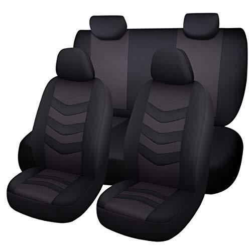 Han Sui Song Juego Fundas para coche, 9piezas, Protecciones Para Asientos Coche, Accesorios Interiores para Ibiza Neuer Arona Ateca Leon ST SC X-Perience Toledo gris