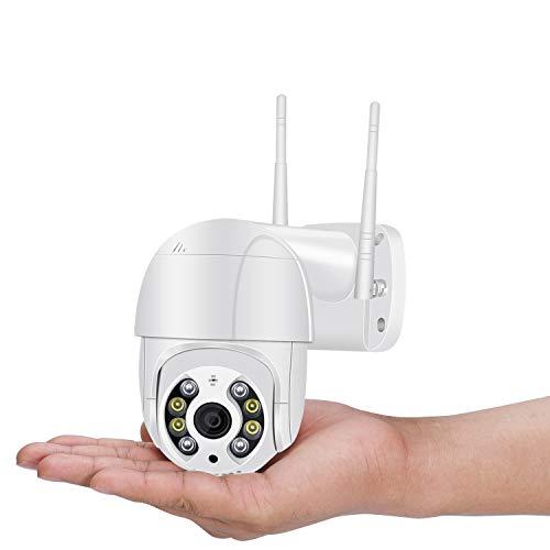 ADFSHISA 3MP PTZ WiFi Camera Motion Two Voice Alert Human Detection Outdoor IP Camera Audio IR Night Vision Video CCTV Surveillan (3MP No Card)