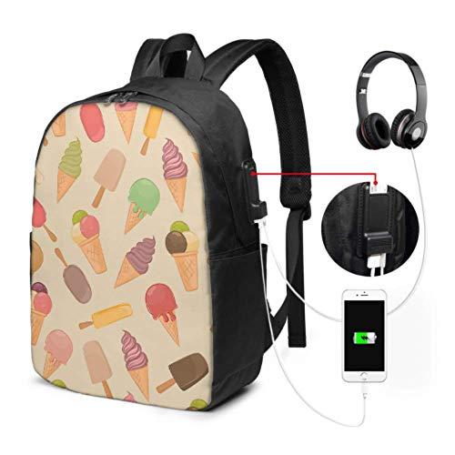 Travel Daypack Bunte Babyeis College-Taschen für Mädchen mit USB-Ladeanschluss und Kopfhöreranschluss für College-Arbeitsreisen