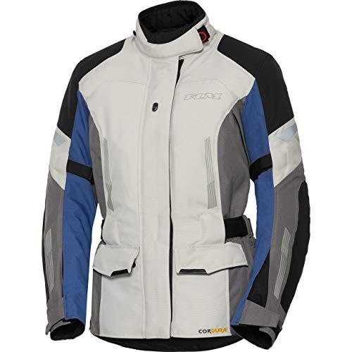 FLM Motorradjacke mit Protektoren Motorrad Jacke Damen Touren Textiljacke 3.0 grau XXL, Tourer, Ganzjährig
