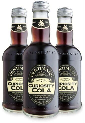 3 Flaschen Fentimans Curiosity Cola a 275ml in Glas inc. EINWEG Pfand