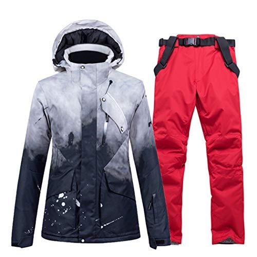 Azastar Skianzug für Herren Wasserdicht Winddicht Tops und Hosen Set für Erwachsene Männer Warmer Schneeanzug