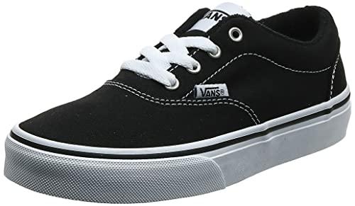 Vans Damen Doheny Sneaker, Schwarz ((Canvas) Black/White 187), 36.5 EU
