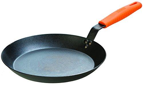 Lodge Manufacturing Company CRS12HH61 carbon steel skillet, 12', Black/Orange