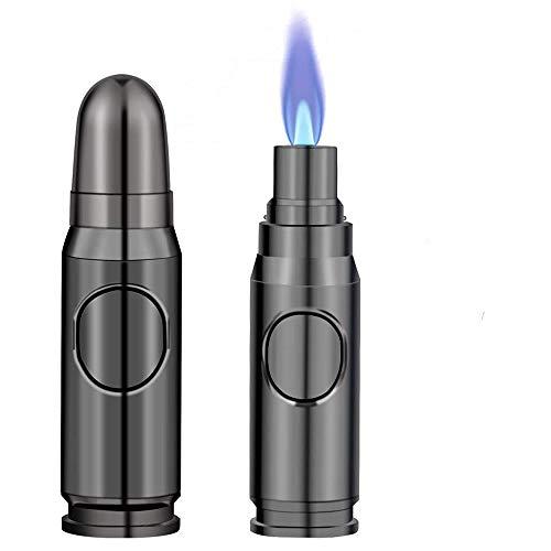 Achort Lötlampe, nachfüllbares Butanfeuerzeug Mehrzweckkerzenfeuerzeug Winddichtes Feuerzeug Einstellbare tragbare Flammenfeuerzeuge für Zigarrengrill Grillkerze Camping Geschenkbox