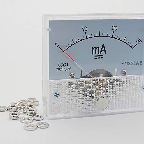 Raybre Art Misuratore di Corrente analogico da Pannello DC 0-30mA Amperometro per Test di circuiti