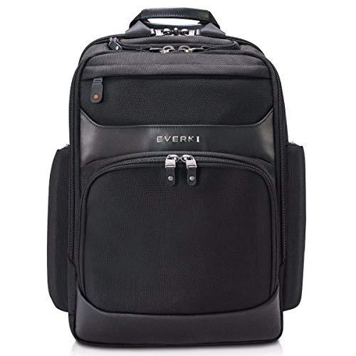 EVERKI Onyx Premium Business Executive 15.6-Inch Laptop Backpack, Ballistic Nylon and Leather, Travel Friendly (EKP132)