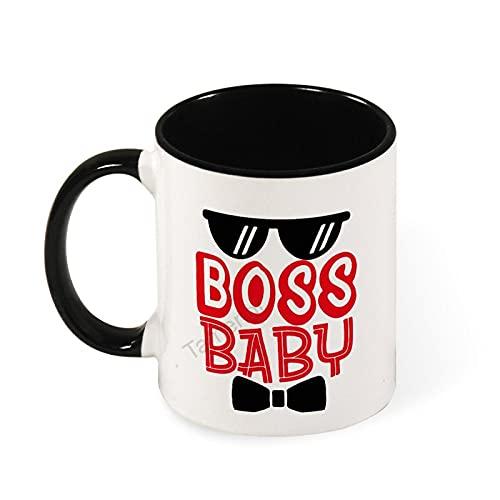 Divertida taza de café en dos tonos, taza de té de café, regalo de cumpleaños único para hombres y mujeres, talla única Boss Baby