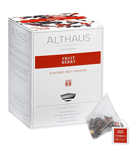 Althaus Pyra Pack Fruit Berry 15 x 2,75g ⋅ Früchtetee im Pyramidenbeutel