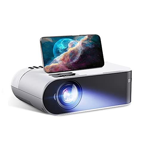 SHDREAM Proyector, proyector de video portátil para el cine en casa 1080p, relación de contraste de 1000: 1, entretenimiento de pantalla grande de 100 pulgadas, con altavoces estéreo Dual HIFI, proyec