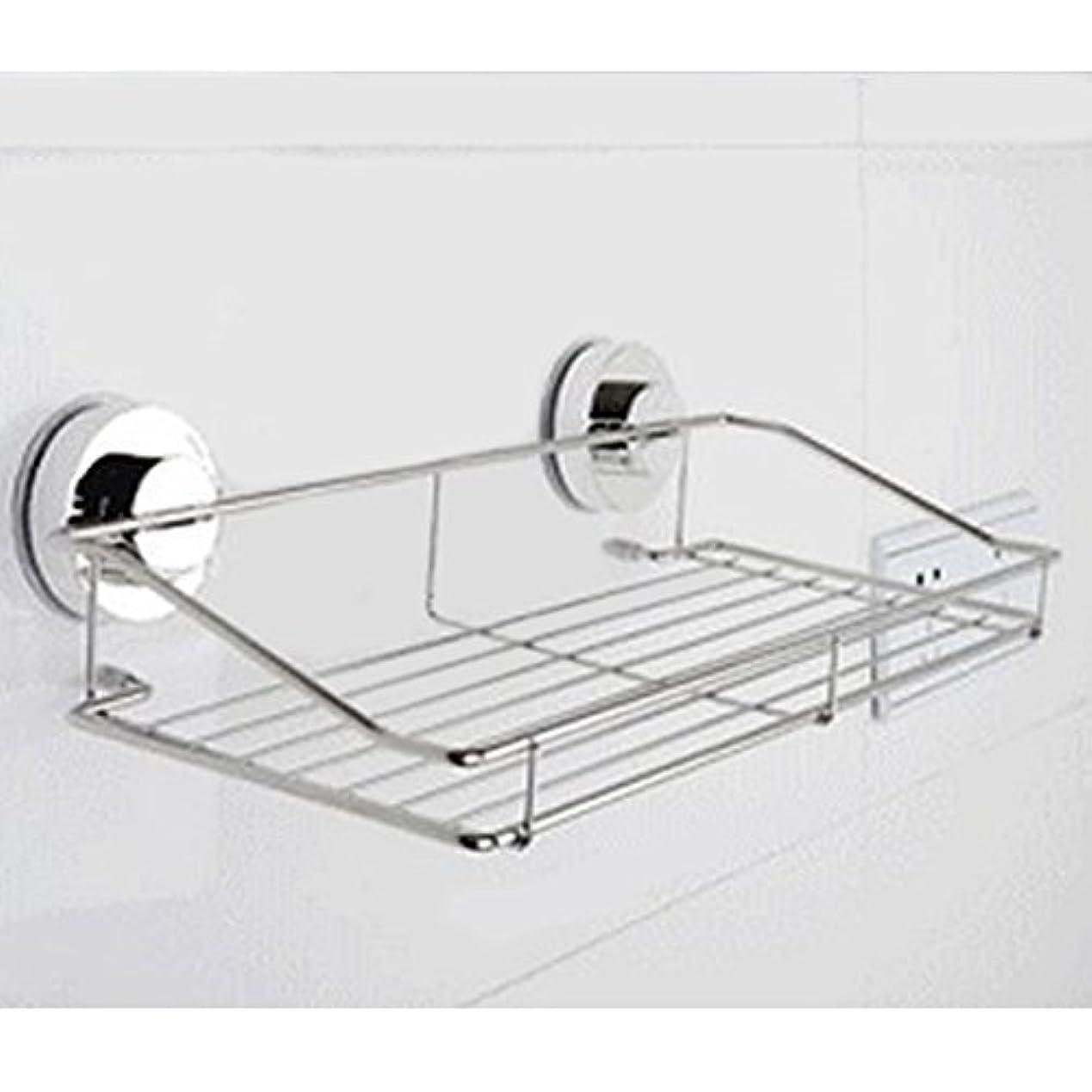 へこみ火山学結紮どこでもラック 強力 吸盤 トレイ ホルダー  キッチン お風呂 バス 水切り 洗面所 壁 ガラス タイル KB-DOKOTUKU (Lサイズ350×90×180mm)