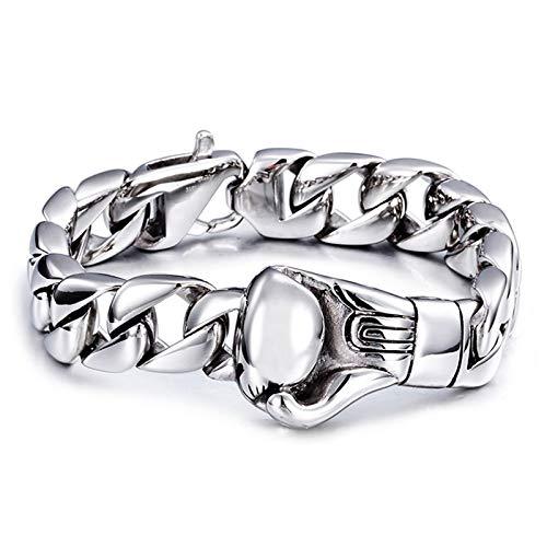 KnBoB Edelstahl Herren Herren Silber Boxhandschuhe Armband