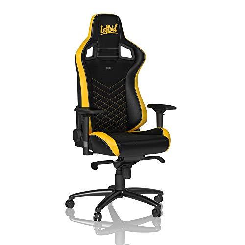noblechairs EPIC Gaming Stuhl - Bürostuhl - Schreibtischstuhl - PU-Kunstleder - LeFloid Edition - Schwarz/Gelb