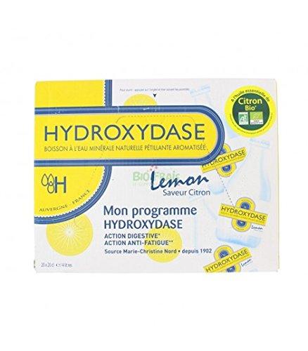 Hydroxydase Boisson à l'Eau Minérale Naturelle Pétillante Saveur Citron 20 x 20 cl