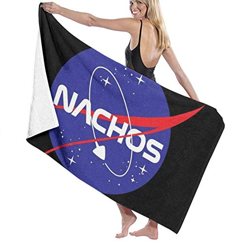 erjing Nachos Bath Towel Soft Absorbent Quick Dry Towels For Sports Travel Pool Beach Gym Bath,130cm×80cm