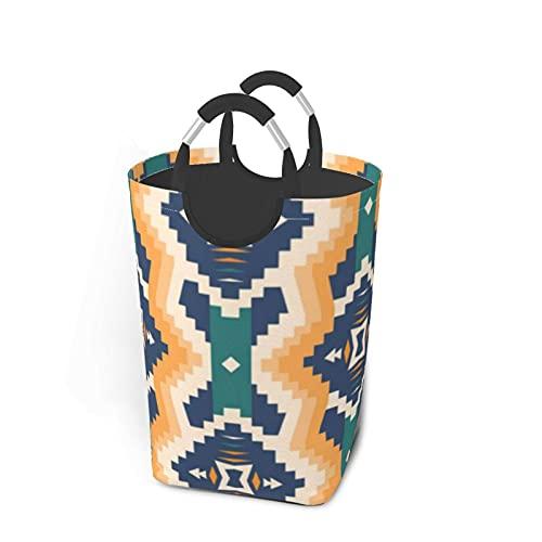 Bolsa de ropa sucia cuadrada azteca nativa sucia sucia sucia organizador de ropa plegable cesta de lavandería extra grande