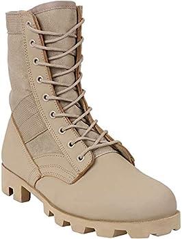 tan military boot