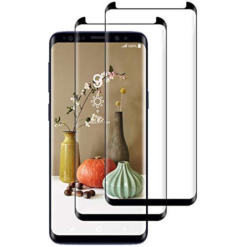 Miuphro Cristal Templado Compatible con Samsung Galaxy S9 Plus [2-Unidades], Protector de Pantalla Samsung Galaxy S9 Plus, [2.5d Borde Redondo][Fácil Instalación][Alta Definicion][9H Dureza]