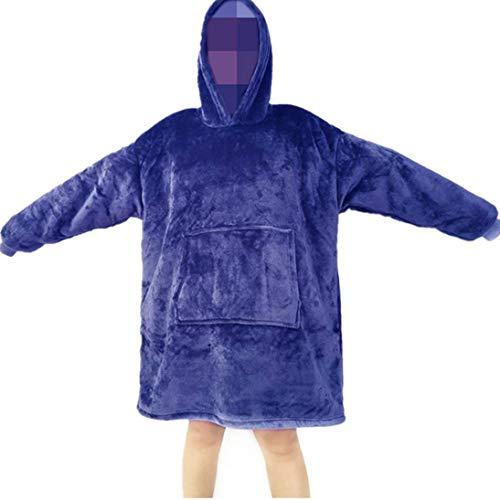 YEPLINS Sherpa Hoodie Sweatshirt Decke,Plüsch Pullover Decke mit Kapuze,Übergroße Decken Hoodie Kapuzenpullover Damen Blanket Hoodie