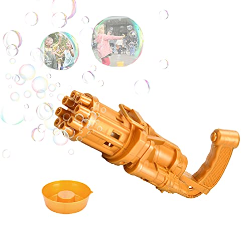 Bubbles Machine for Kids, 8 Hole Automatic Bubble Maker Machine Electric Bubble, 2021 Kids Bubble for Summer Outdoor Activities Fan Combo, Summer Gifts Outdoor Toys for Boys and Girls