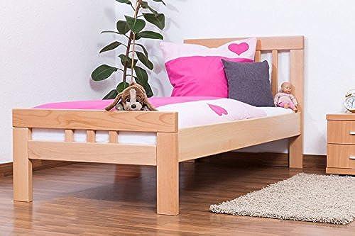Kinderbett Jugendbett Easy Premium Line  K8, Buche Vollholz massiv natur - Ma  90 x 200cm