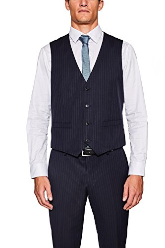 ESPRIT Collection Herren 097EO2H001 Anzugweste, Blau (Navy 400), 48