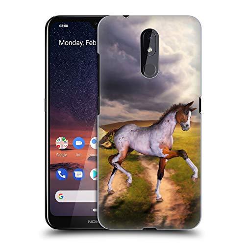 Officiële Simone Gatterwe Het kleine veulen Paarden Hard Back Case Compatibel voor Nokia 3.2