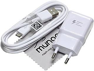 Cargador para Original Flash rápido Samsung 2A USB + 1,5 m Cable de carga de datos para Samsung Galaxy S7 Edge (G935F) con mungoo pantalla paño de limpieza