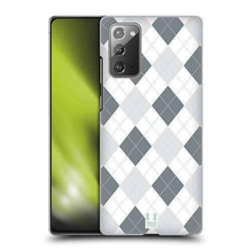 Head Case Designs Schwarz Und Weiss Argyle Muster Harte Rueckseiten Handyhulle Hulle Huelle kompatibel mit Samsung Galaxy Note20 5G