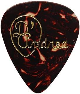 D'Andrea RG351, 0.71MD Celluloid Guitar Picks, 72-Piece Shell, 0.71mm, Medium