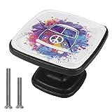 Xingruyun Tirador de Cajon Paz del Bus de Color Tirador de Muebles Cristal Tirador de Puerta Tirador de Gabinete Tirador 4Pcs 3x2.1x2 cm