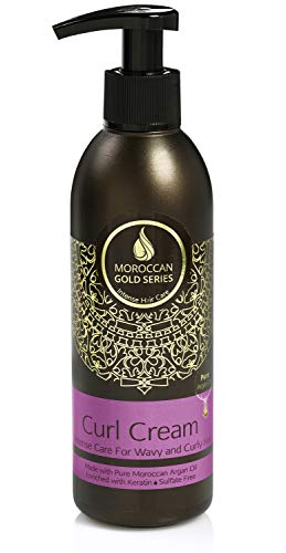 Moroccan Gold Series Curl Cream – Styling Cream for Curly Hair with Pure...