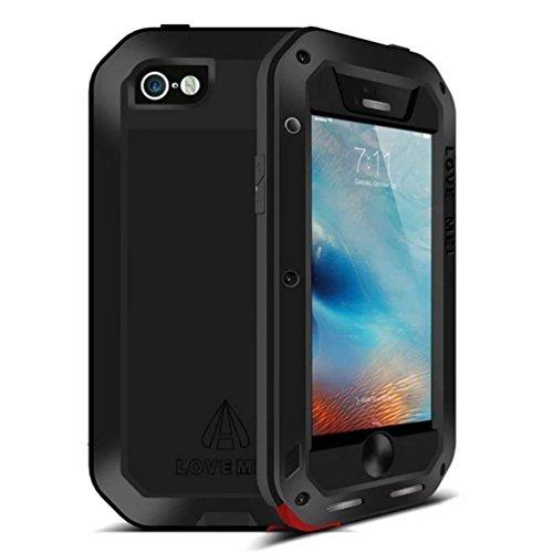 Funda impermeable para iPhone 6 de Feitenn Armor, Aluminio, Metal, Fibra de carbono, Gorilla Glass, Funda protectora a prueba de golpes para iPhone 6/iPhone 6S