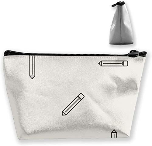 Hand gezeichnete Bleistift-Make-up-Tasche Große trapezförmige Aufbewahrung Reisetasche Waschen Kosmetikbeutel Bleistifthalter Reißverschluss Wasserdicht Tragbar 8288