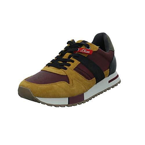 s.Oliver Herren 5-5-13610-23 Sneaker, Gelb (Mustard Comb. 610), 45 EU