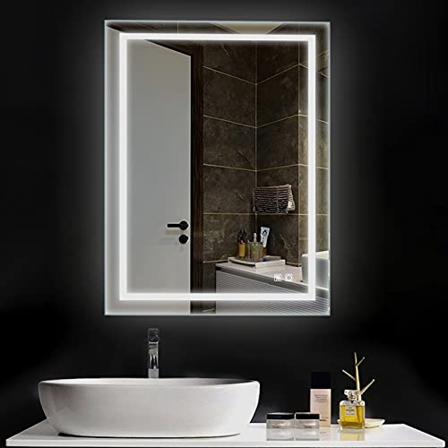 ExBrite LED Bathroom Mirror, 36 x 28 inch, Anti Fog, Dimmable, Touch Button, Superslim,90+ CRI, Waterproof IP44,Both Vertical and Horizontal Wall Mounted Way
